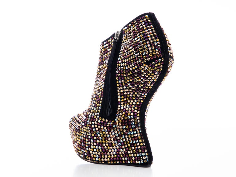 Guiseppe Zanotti Crystal Embellished Wedges, Fall 2012 For Sale 1