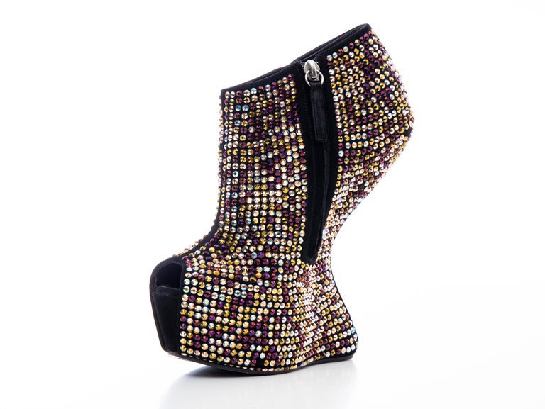 Guiseppe Zanotti Crystal Embellished Wedges, Fall 2012 For Sale 2