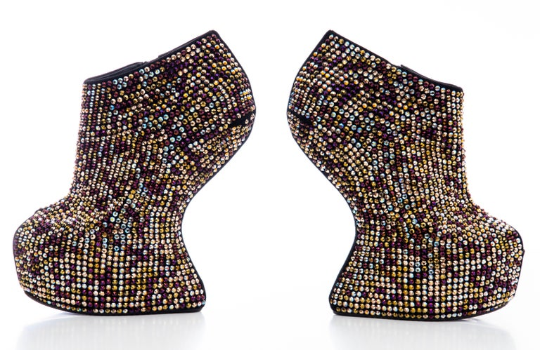 Guiseppe Zanotti Crystal Embellished Wedges, Fall 2012 For Sale 4