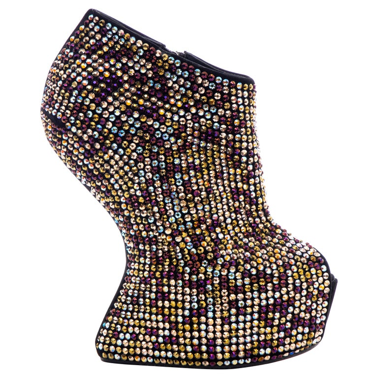 Guiseppe Zanotti Crystal Embellished Wedges, Fall 2012 For Sale
