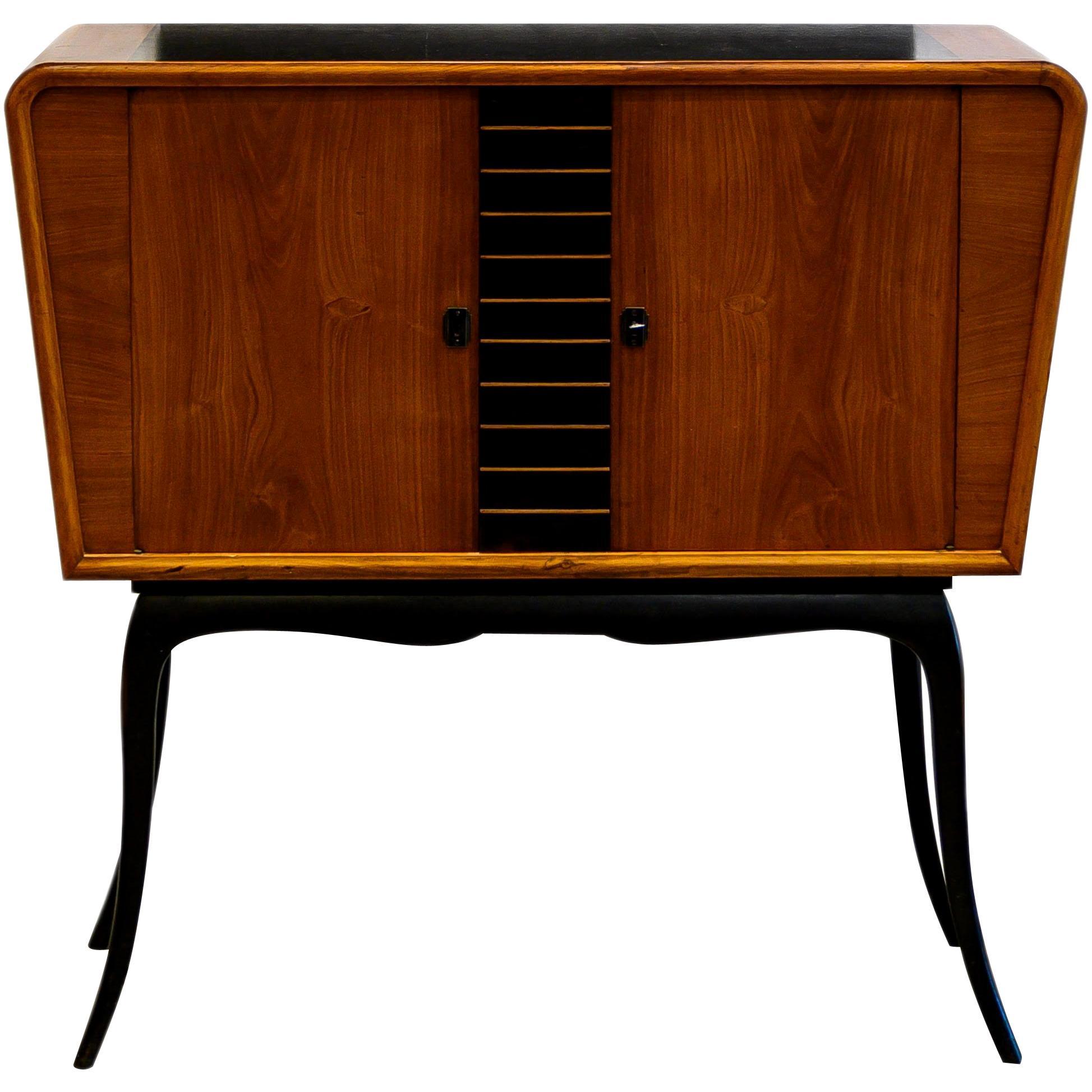 Guiseppi Scapinelli Brazilian Wood Bar Cabinet, circa 1960s