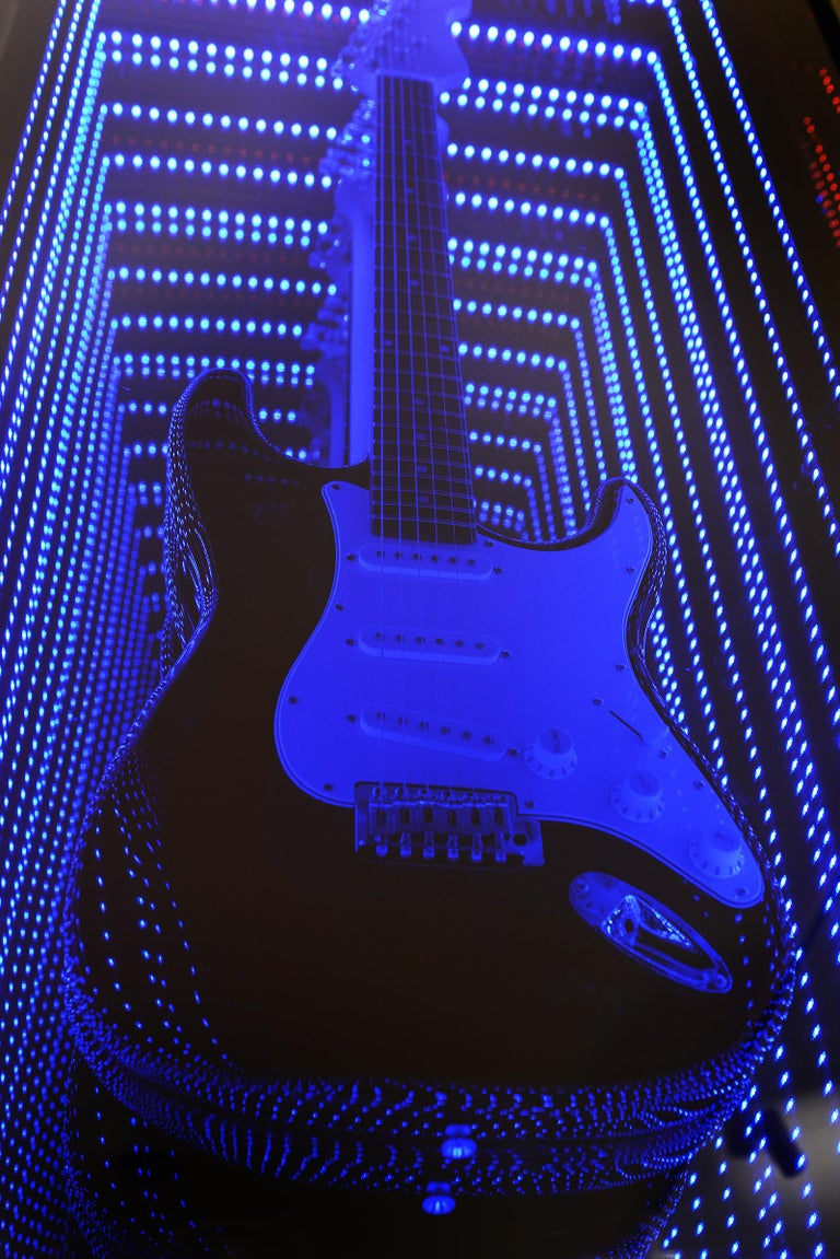 Guitar Infiny Wall Decoration Mirror with Led Lights For Sale 1