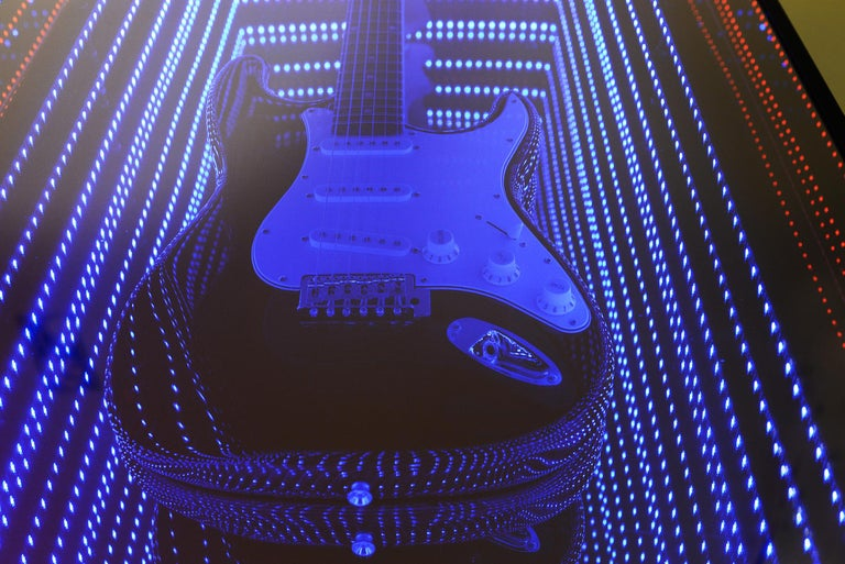 Guitar Infiny Wall Decoration Mirror with Led Lights For Sale 2