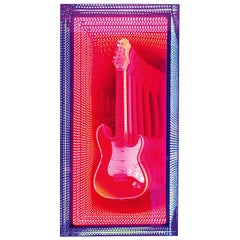 Guitar Infiny Wall Decoration Mirror with Led Lights