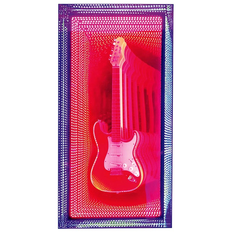 Guitar Infiny Wall Decoration Mirror with Led Lights For Sale