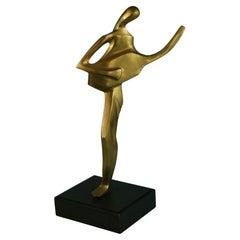 Guitar Player Brass Figurative Abstract Sculpture