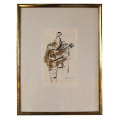 Guitarist Sketch by Walter Peregoy