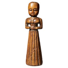 Gujurat Region, North India, Statue of a Woman in a Long Skirt
