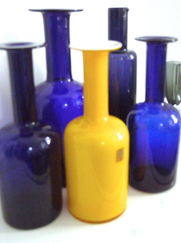 Scandinavian Modern Gulvases Blue Design 1962 by Otto Brauer Based on Per Lutkens Version from 1958 For Sale