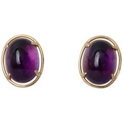 Gump's Amethyst Gold Earrings