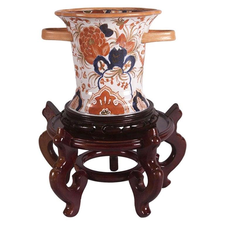 Gump's Hand Painted Porcelain Vase