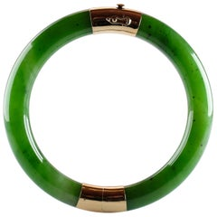 Gump's Jade Bangle Green Nephrite