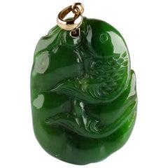 Gump's Jade Pendant Koi Fish