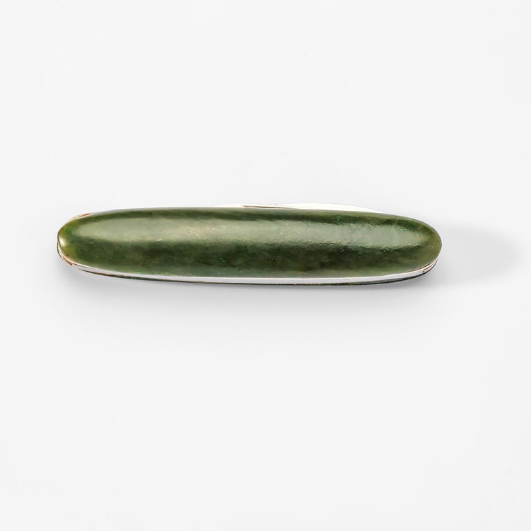 Contemporary Gump's Jade Pocket Knife For Sale