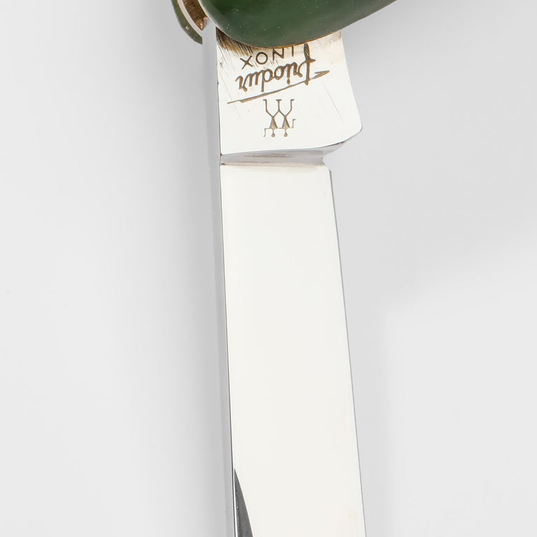 Gump's Jade Pocket Knife In Excellent Condition For Sale In Southbury, CT