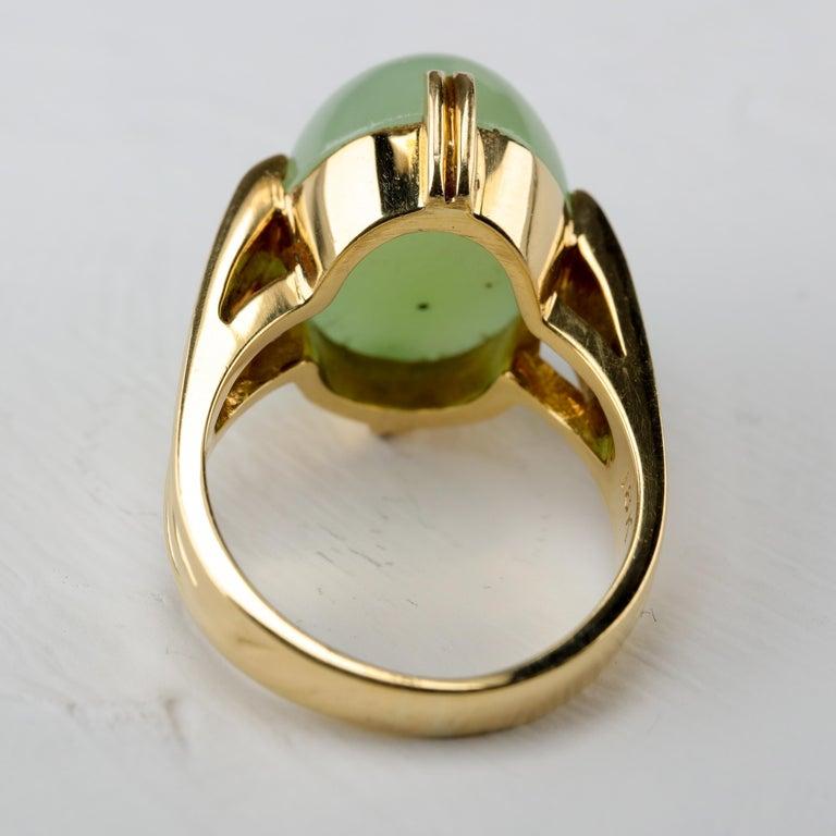Gump's Jade Ring Rare Art Deco Design 3