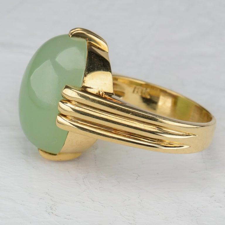 Gump's Jade Ring Rare Art Deco Design 4