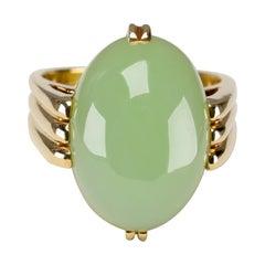 Gump's Jade Ring Rare Art Deco Design