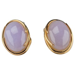 Gump's Lavender Jade Earrings