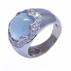 Gumuchian 18 Karat Aquamarine and Diamond Ring