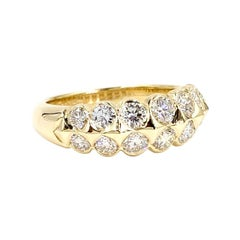 Gumuchian 18 Karat Double Row Diamond Ring