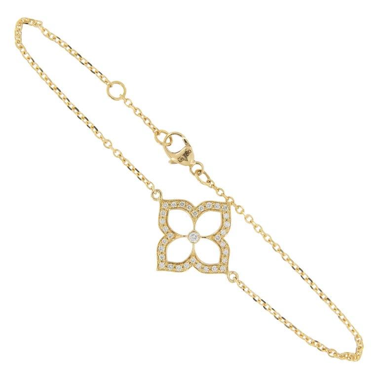 Gumuchian 18 Karat Gold and Diamond Lotus Bracelet For Sale