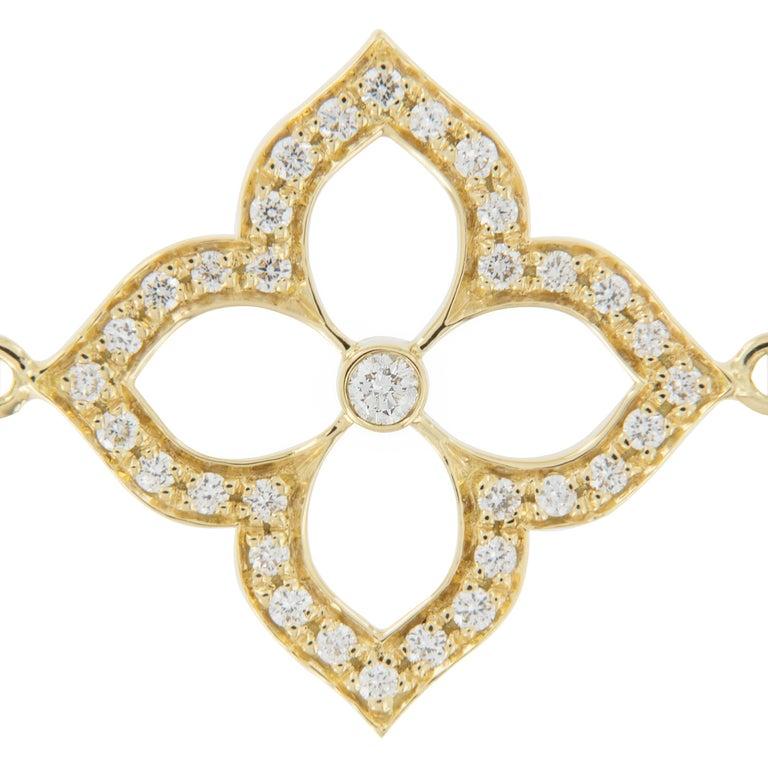 Gumuchian 18 Karat Gold and Diamond Lotus Bracelet In New Condition For Sale In Troy, MI