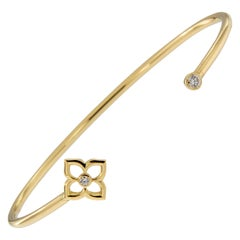 Gumuchian Diamond Gold G Boutique Lotus Cuff Bracelet