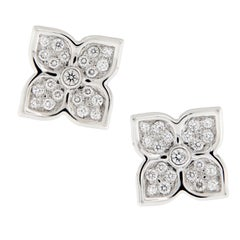 Gumuchian G. Boutique 18 Karat White Gold Diamond Lotus Earrings