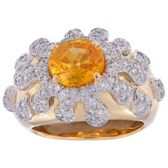Gumuchian Sapphire Diamond Splash Gold Ring