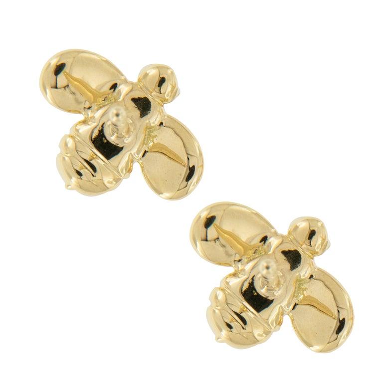 Gumuchian Worker Bee 18 Karat Gold and Diamond Earrings In New Condition For Sale In Troy, MI