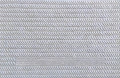 Grey X's by Gunda Jastorff - Contemporary Geometric Textured Painting
