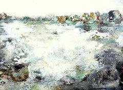 Seaside XXIX by Gunda Jastorff Landscape, sea painting with turquoise, blue