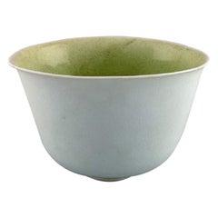 Gunhild Aaberg, Danish Contemporary Ceramist, Unique Bowl in Porcelain, 1980s