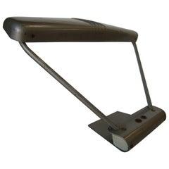 Gunmetal Grey Machine Age Tanker Fluorescent Desk Lamp