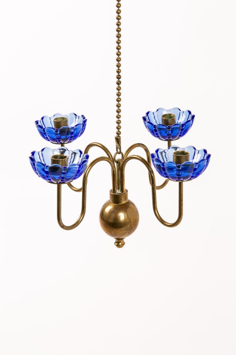 Scandinavian Modern Gunnar Ander Candelabra Pending of Copper Ystad Metall For Sale