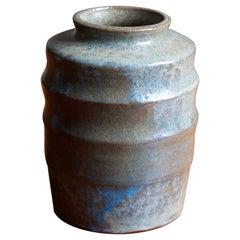 Gunnar Hansson, Vase, Glazed Stoneware, Artists Studio, Lomma, Sweden, 1950s