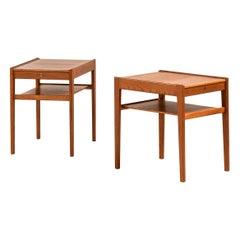 Gunnar Myrstrand Bedside / Side Tables Model Dixi by Tingströms in Sweden