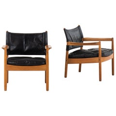Gunnar Myrstrand Easy Chairs Produced by Källemo in Sweden