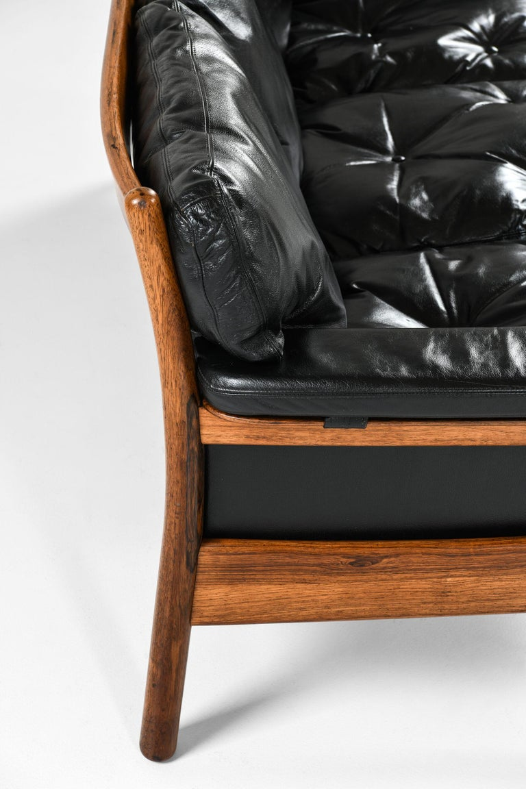Leather Gunnar Myrstrand Sofa Produced by Källemo in Sweden For Sale