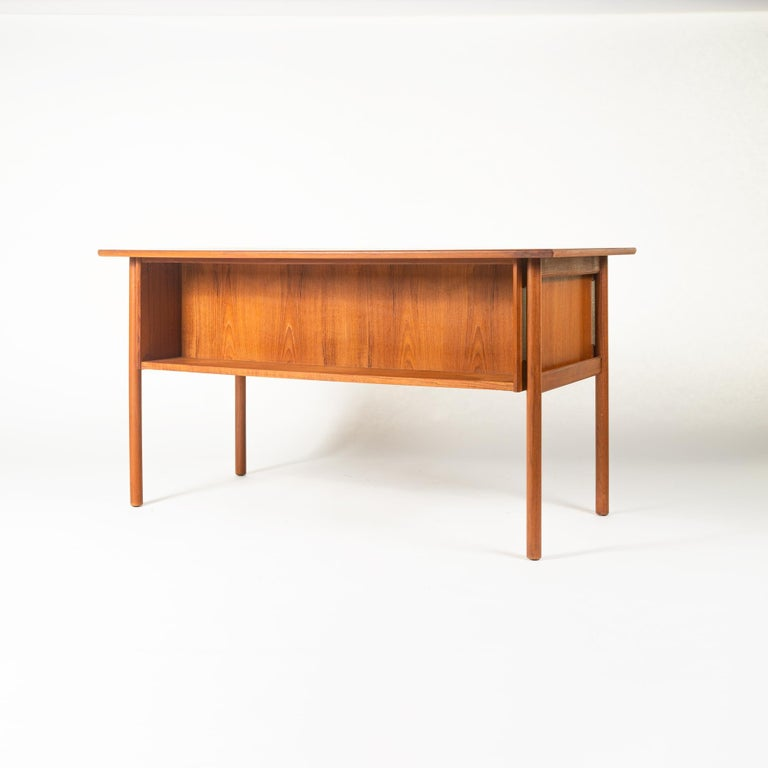 Other Gunnar Nielsen Tibergaard Teak Free Standing Executive Desk with 6 Drawers For Sale