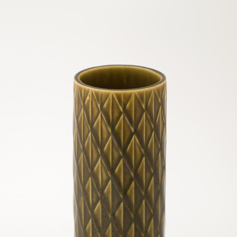 Scandinavian Modern Gunnar Nylund Ceramic Vase for Rörstrand, Sweden, 1960s For Sale