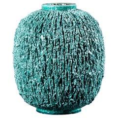 "Gunnar Nylund Chamotte Vase by Rörstrand, ""Hedgehog Vase"", 1950s"