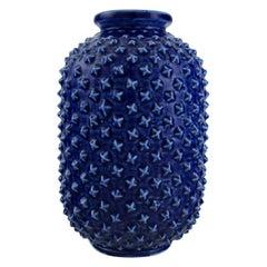 Gunnar Nylund for Rörstrand, Chamotte Vase in Glazed Ceramics with Spiky Surface