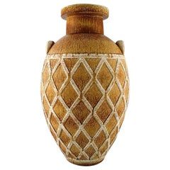 Gunnar Nylund for Rörstrand, Colossal Unique Floor Vase with Geometric Pattern
