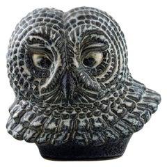 Gunnar Nylund for Rörstrand, Owl in Glazed Stoneware, 1950s