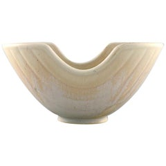 Gunnar Nylund for Rörstrand, Rare Bowl in Glazed Ceramics, Mid-20th Century