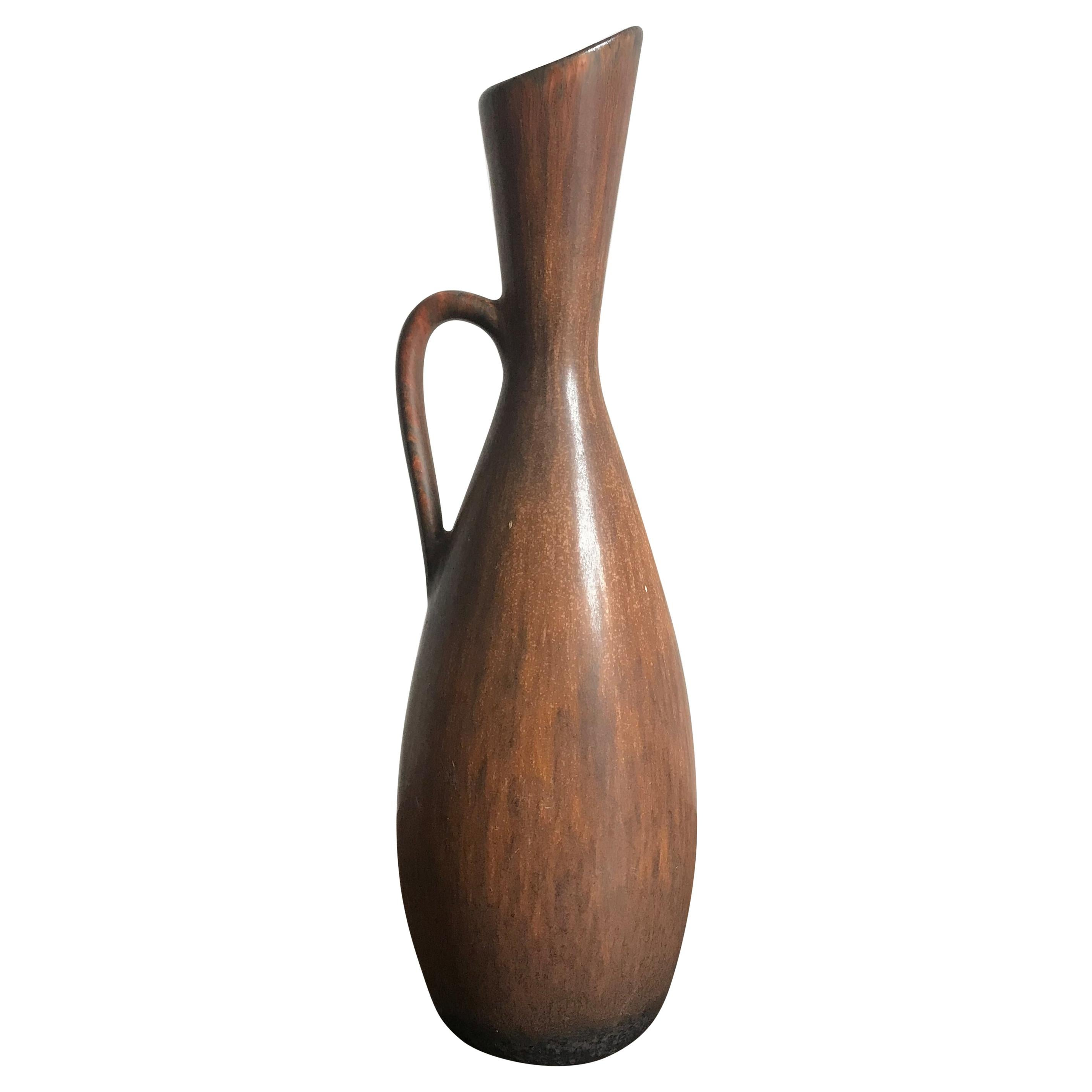 Gunnar Nylund for Rörstrand Scandinavian Pottery Ceramic Vase, 1950