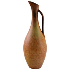 Gunnar Nylund for Rörstrand, Vase with Handle in Glazed Stoneware, 1960s