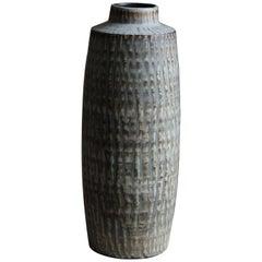 Gunnar Nylund, Large Floor Vase, Glazed Stoneware, Rörstand, Sweden, 1950s